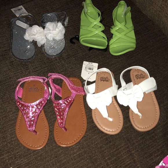 Pair Toddler Girls Sandals Size